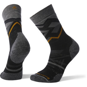 Smartwool PhD Outdoor Medium Pattern Crew Socks Black Heather